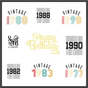 Birthday Tshirt Vector