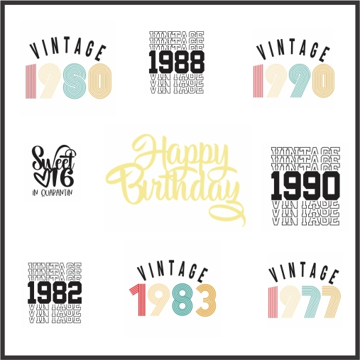 Birthday Tshirt Svg