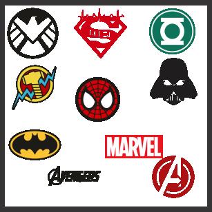 Superheros Logos Svg