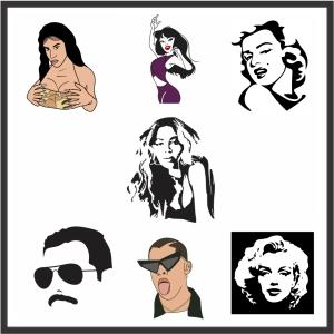 Celebrities Vector File