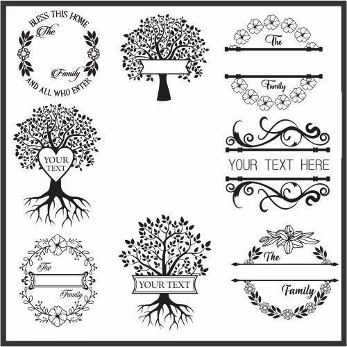 Family Monogram Vector