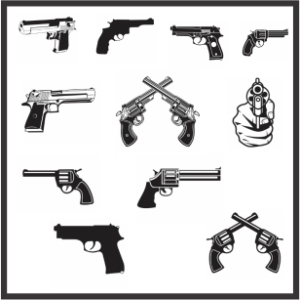 Gun And Pistol Vector File