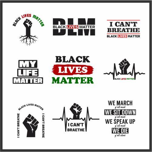 Black Lives Matter Awareness Vector