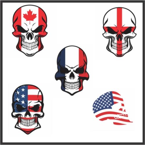 All Flag Skull