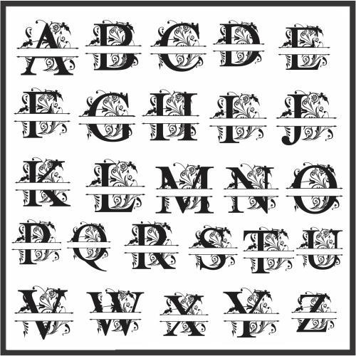 Split Letter Monogram Vector