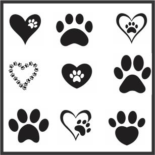 Animal Paw Svg File