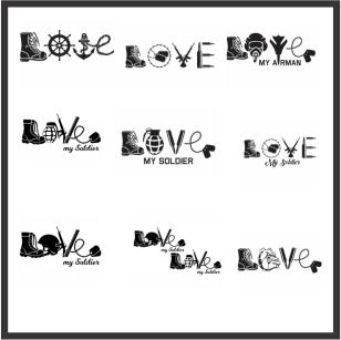 Love Army Vector