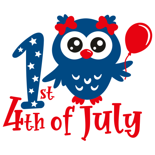 1st 4th of July Svg