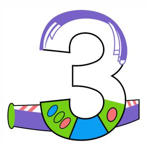 Number three vector file