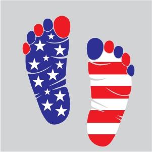4th of July Footprint Vector