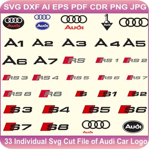 Audi Car Pack Logos Svg Cut Files