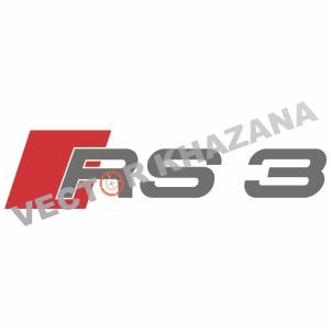 Audi RS 3 Logo Svg