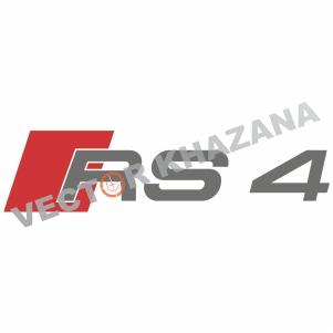 Audi RS 4 Logo Svg