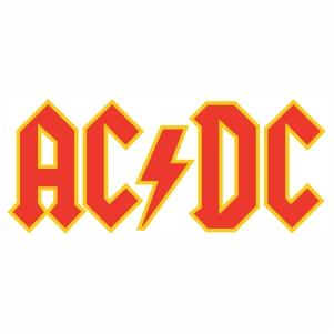 Ac Dc band logo vector design