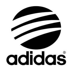 Adidas round logo vector