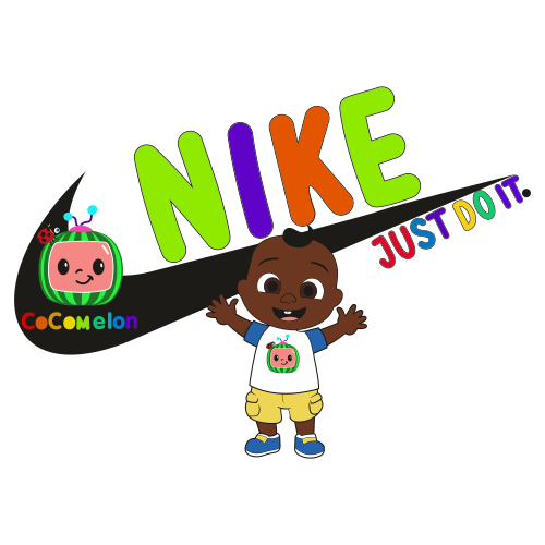 CocoMelon With Nike Logo Svg