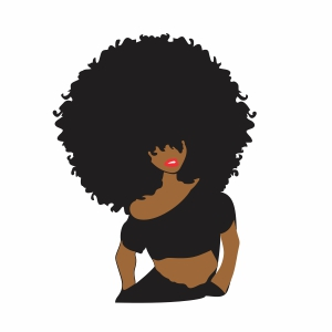 Strong Afro girl Svg