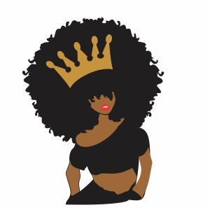 Queen Afro girl vector file