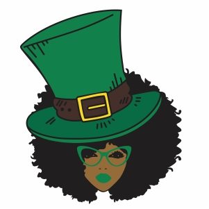 Afro woman cap svg cut file