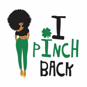 Afro woman i pinch back vector file