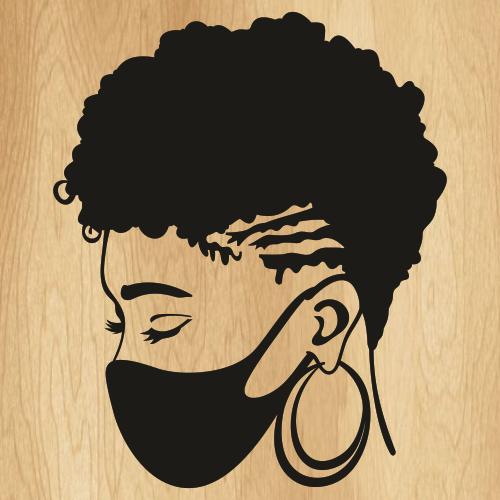 Afro Woman Mask Svg