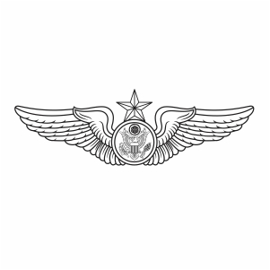 USAF Enlisted Aircrew wings Svg
