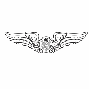 US Air Force Enlisted Aircrew Wings svg