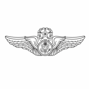United States Air Force Enlisted Aircrew wings svg