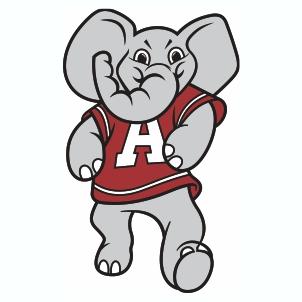 Alabama Elephant A Logo Svg