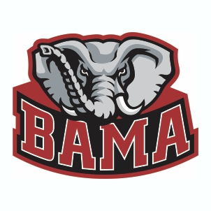 Alabama Elephant Bama Logo Svg