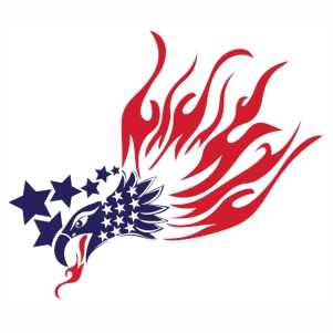 American Eagle Fire svg cut file