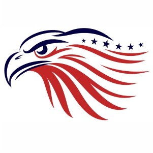 American Flag Eagle svg cut file