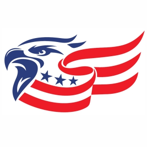 American Flag Eagle Head svg cut
