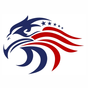 Star Eagle American Flag svg cut file