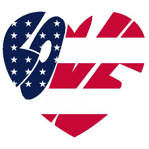 American Flag Love Heart SVG