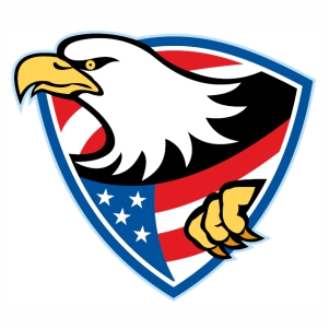 American Eagle Shield Logo svg cut