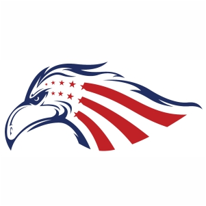 Eagle Head American Flag svg cut file