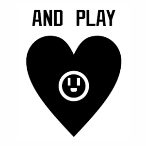 And Play with heart logo vector file