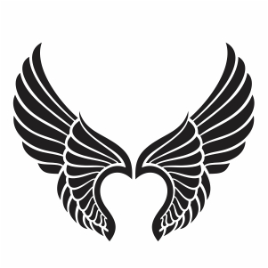 Heart Angel Wings Svg