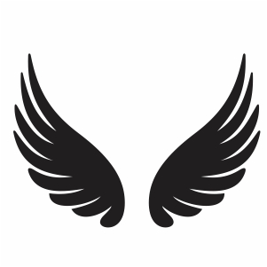 Angel Wings Black Svg