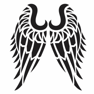 Tribal Angel Wings Svg