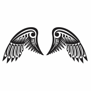 Zentangle Angel Wings Svg