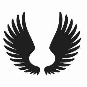 Simple Angel Wings Svg