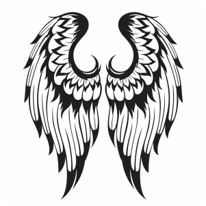 Black Angel Wing Svg