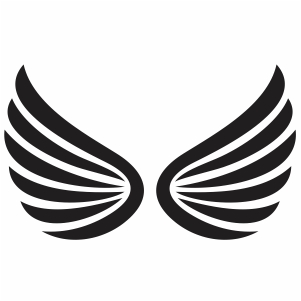Beautiful Angel Wings Svg