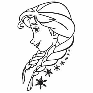 Princess Anna Frozen Vector