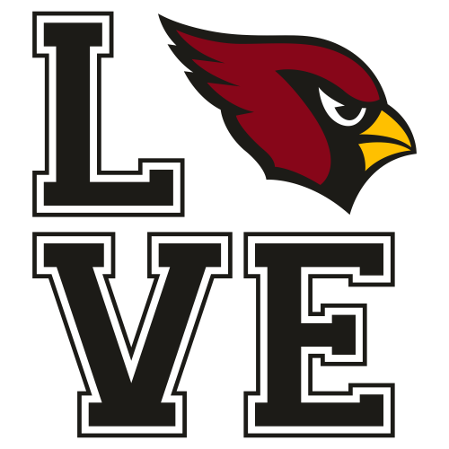 Arizona Cardinals Love Svg