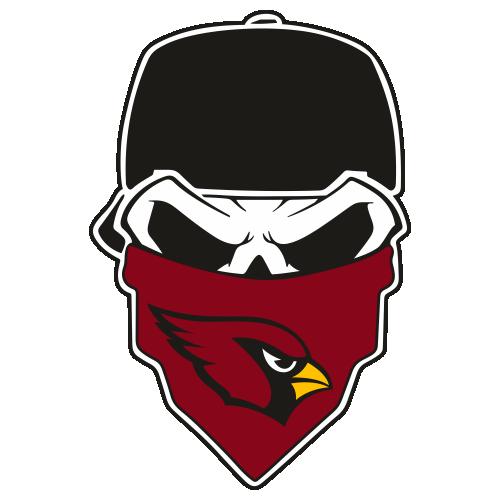 Arizona Cardinals Skull Svg