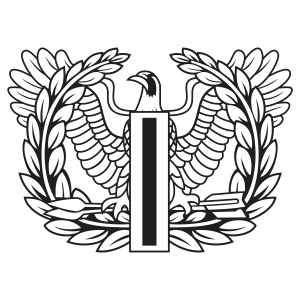 Army Warrant Officer Eagle Badge Svg