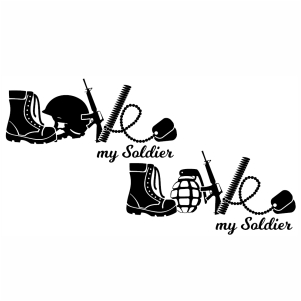 Love My Soldier svg cut file